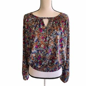 Etcetera Smacked hem floral blouse. Size small